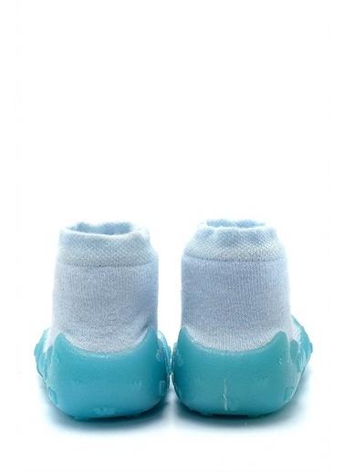 First Step Mavi 3 Boyutlu Köpekcik Figürlü Altı Kaymaz Silikon Çocuk Panduf Ayakkabı c-26-1 Renkli